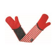 Zeal Silicone Double Oven Glove Gingham Red (V116R)